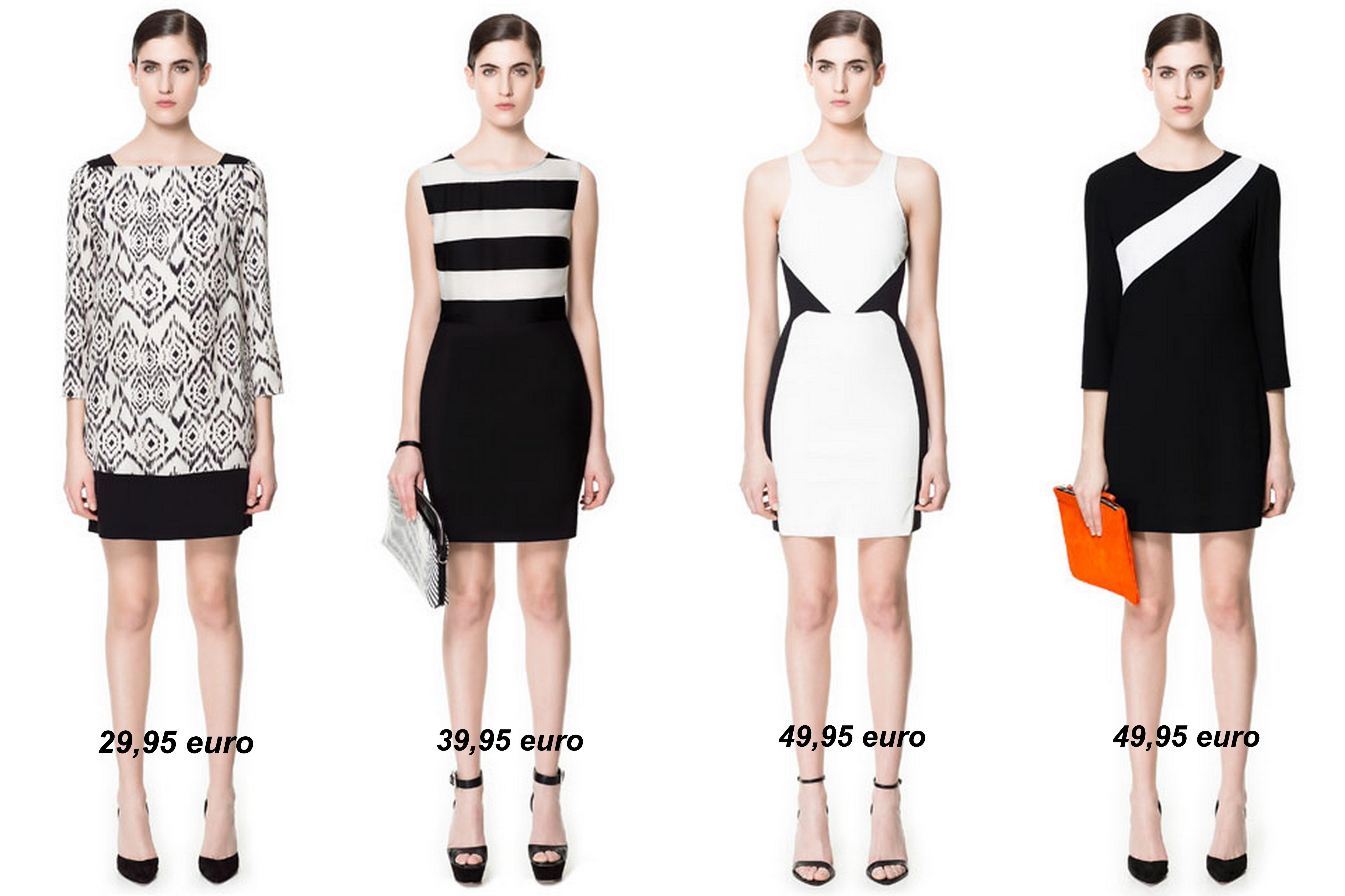 kleedjes zwart wit